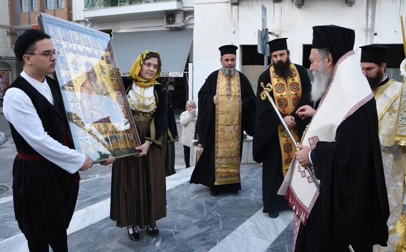 Η Παναγία των χαιρετισμών στον Μητροπολιτικο ναό του Αγίου Δημητρίου Χαλκίδας